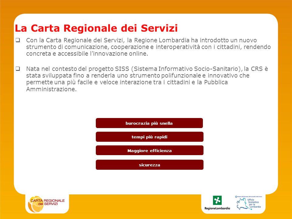 Con la Carta Regionale dei Servizi, la Regione Lombardia ha introdotto un nuovo strumento di comunicazione, cooperazione e interoperatività con i cittadini, rendendo concreta e accessibile linnovazione online.