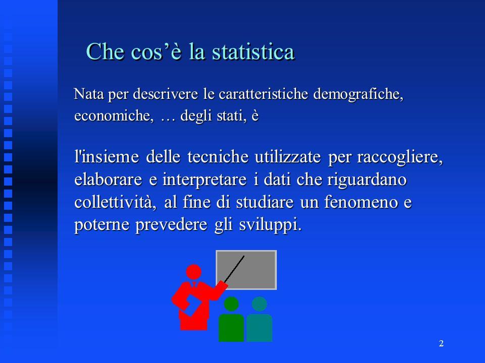1 Elementi di STATISTICA DESCRITTIVA ______________ anno scolastico 2001/2002 Liceo Classico Linguistico D. Crespi Corso di preparazione ai test unive