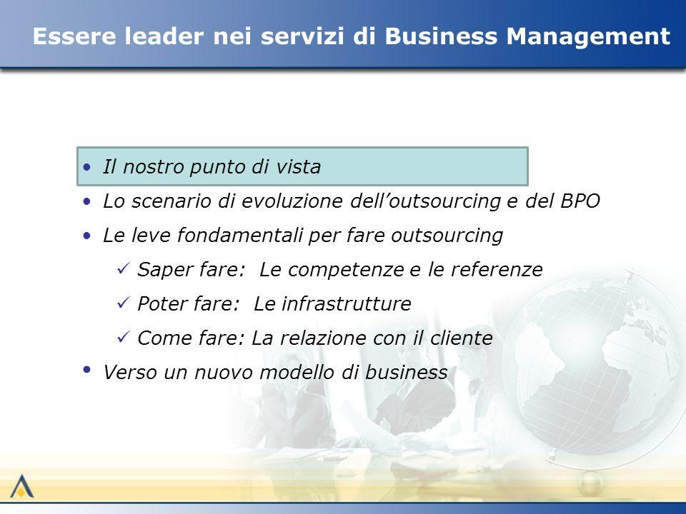 La strategia: essere leader in ICS Vision T IC S Progettare, sviluppare e gestire Business Management Services con (non per) i nostri clienti Molte imprese sono leader perché rinnovano i loro prodotti, altre perché rinnovano i processi o la loro organizzazione.