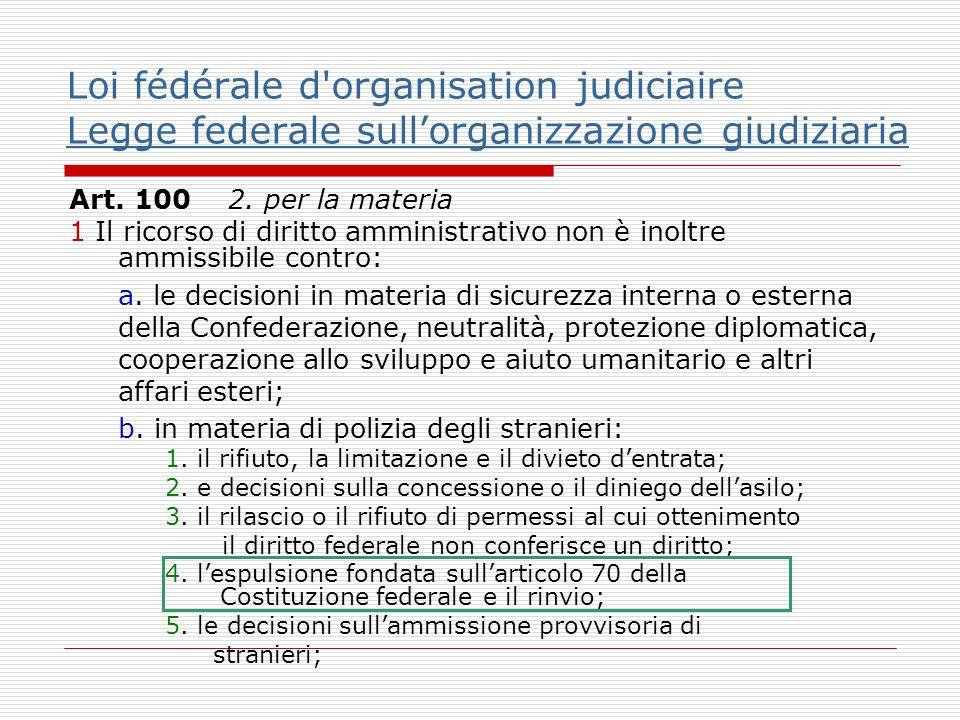 Loi fédérale d organisation judiciaire Legge federale sullorganizzazione giudiziaria Legge federale sullorganizzazione giudiziaria Art.
