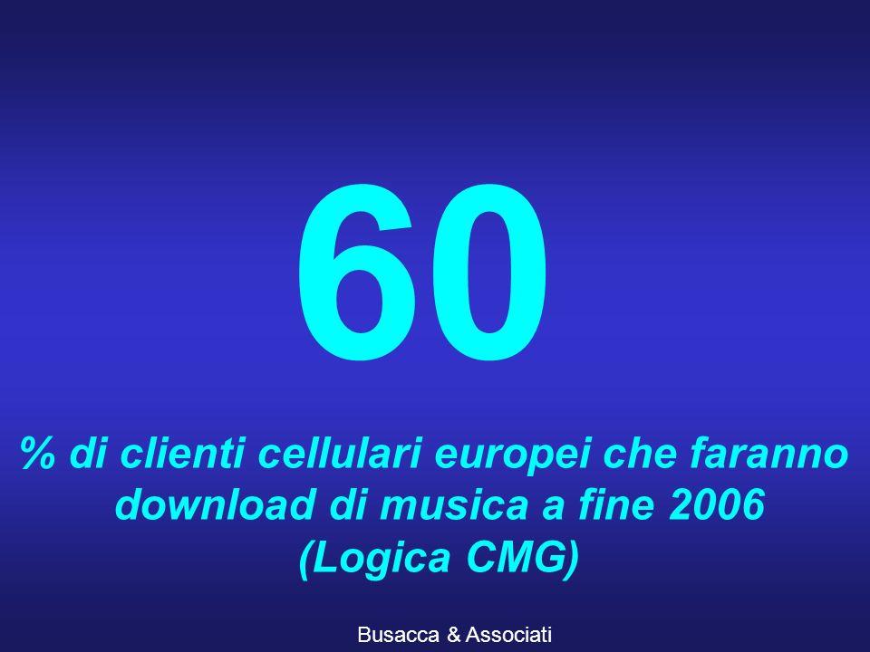 Busacca & Associati 60 % di clienti cellulari europei che faranno download di musica a fine 2006 (Logica CMG)