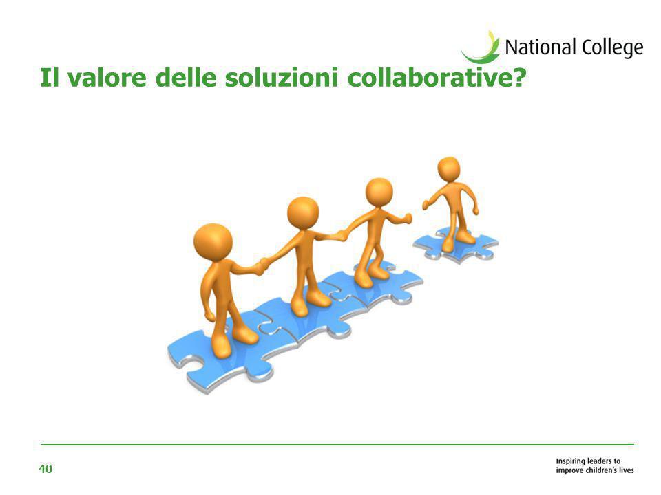 40 Il valore delle soluzioni collaborative?