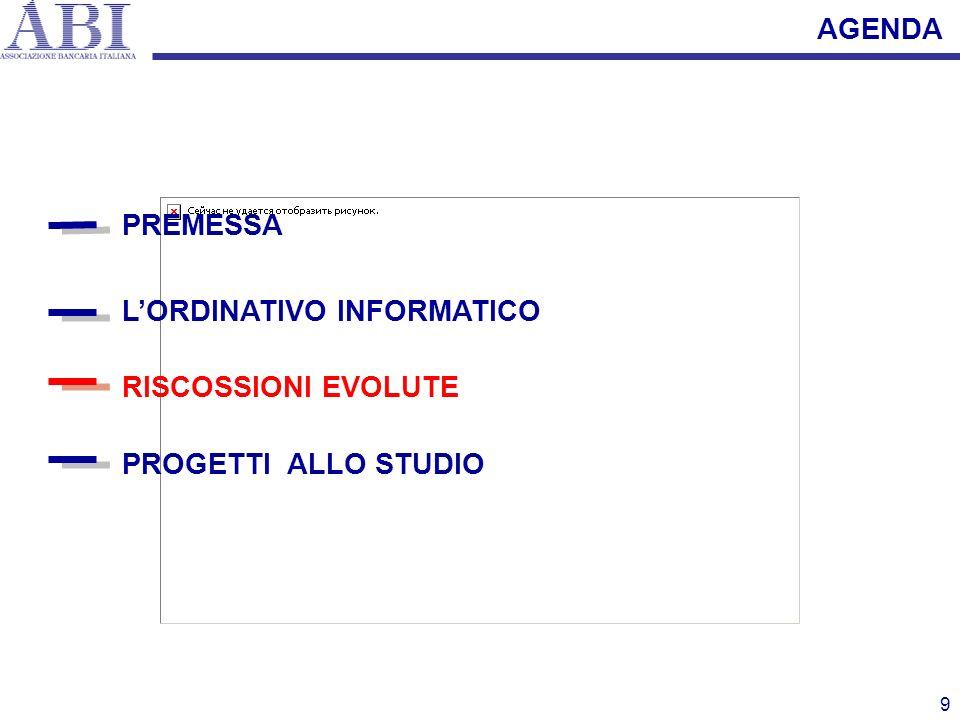 9 PREMESSA LORDINATIVO INFORMATICO PROGETTI ALLO STUDIO RISCOSSIONI EVOLUTE AGENDA