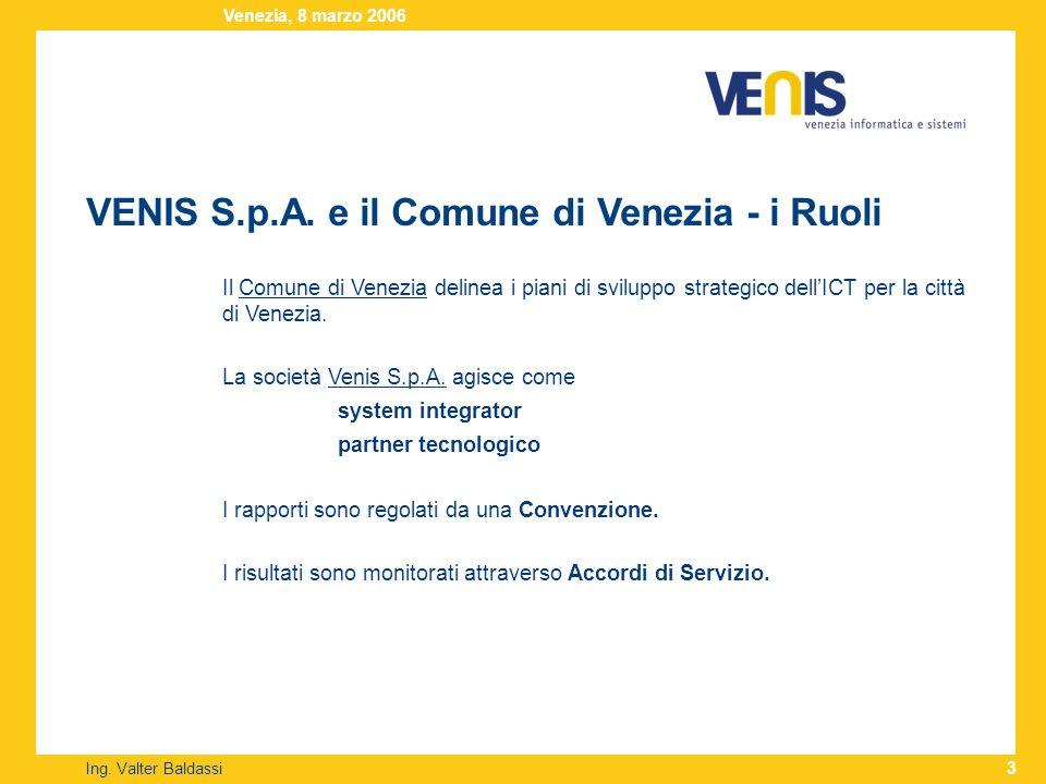 VENIS S.p.A.– la Storia Ing.