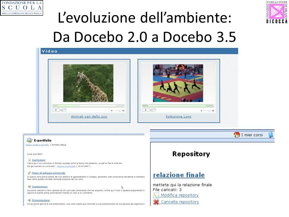 Levoluzione dellambiente: Da Docebo 2.0 a Docebo 3.5