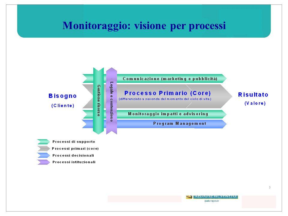 Monitoraggio: visione per processi