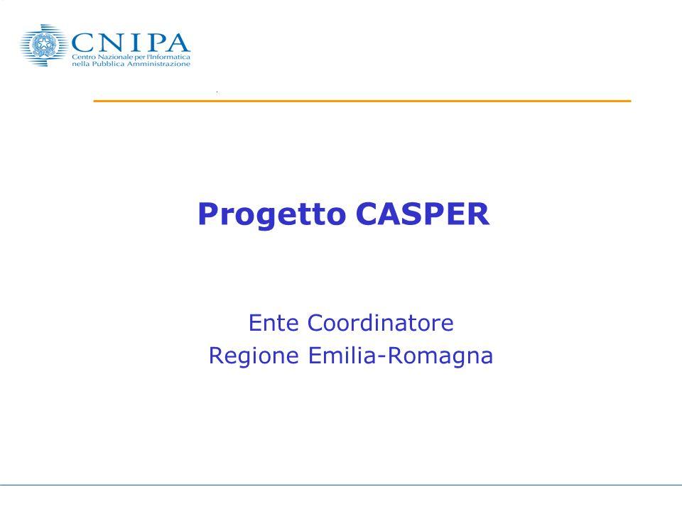 Progetto CASPER Ente Coordinatore Regione Emilia-Romagna