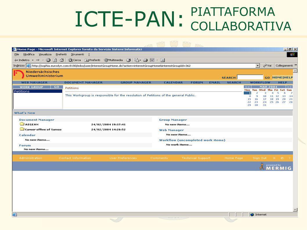 ICTE-PAN: PIATTAFORMA COLLABORATIVA