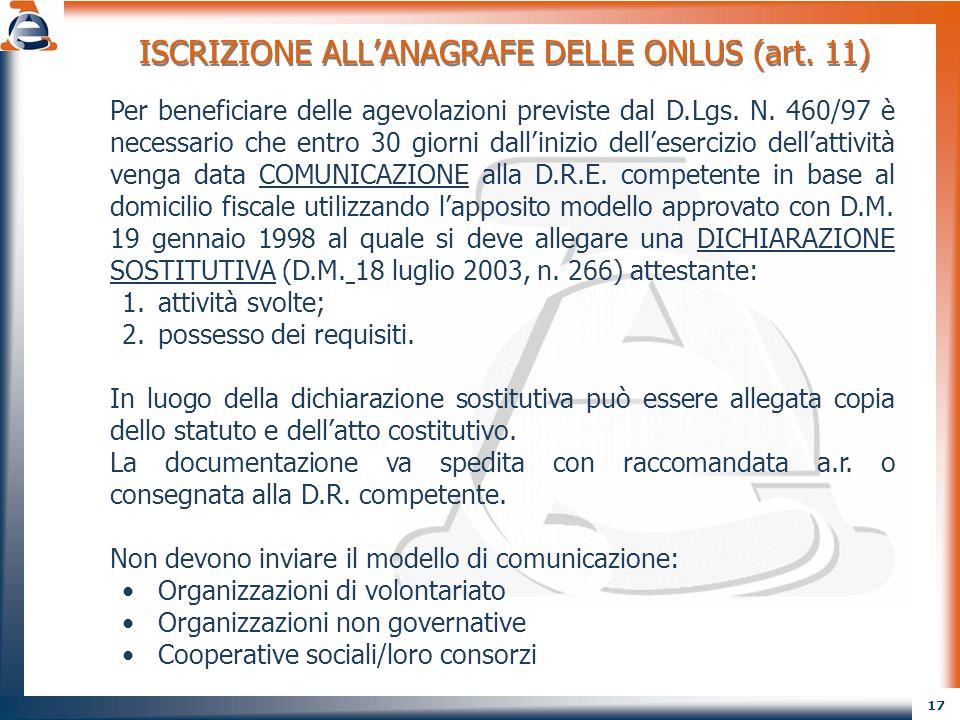 18 CONTROLLO FORMALE (D.M.18 luglio 2003, n. 266) Comunicazione diniego La D.R.