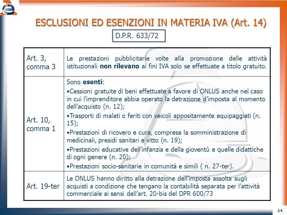 25 CERTIFICAZIONE DEI CORRISPETTIVI AI FINI DELL IVA (Art.