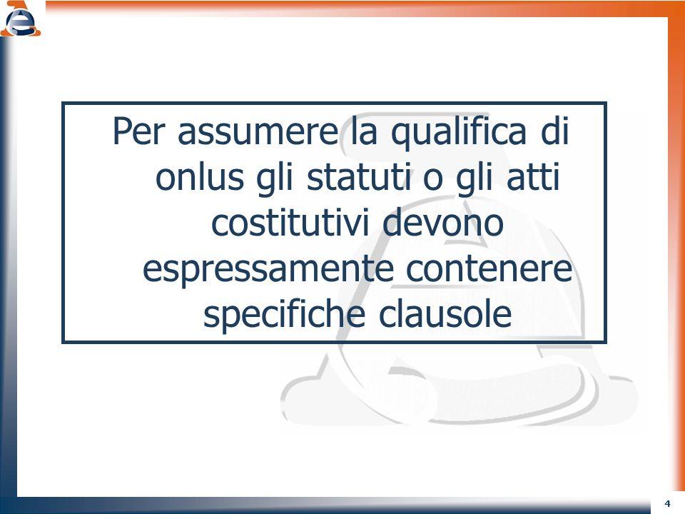 5 SETTORI DI SVOLGIMENTO DELLATTIVITA (art.