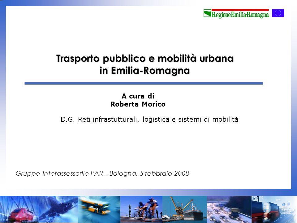 Trasporto pubblico e mobilità urbana in Emilia-Romagna A cura di Roberta Morico Gruppo interassessorile PAR - Bologna, 5 febbraio 2008 D.G.