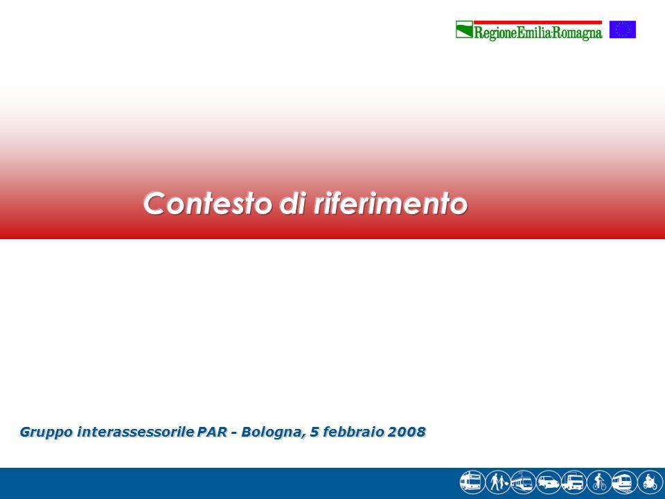 Gruppointerassessorile PAR - Bologna, 5 febbraio 2008 Gruppo interassessorile PAR - Bologna, 5 febbraio 2008