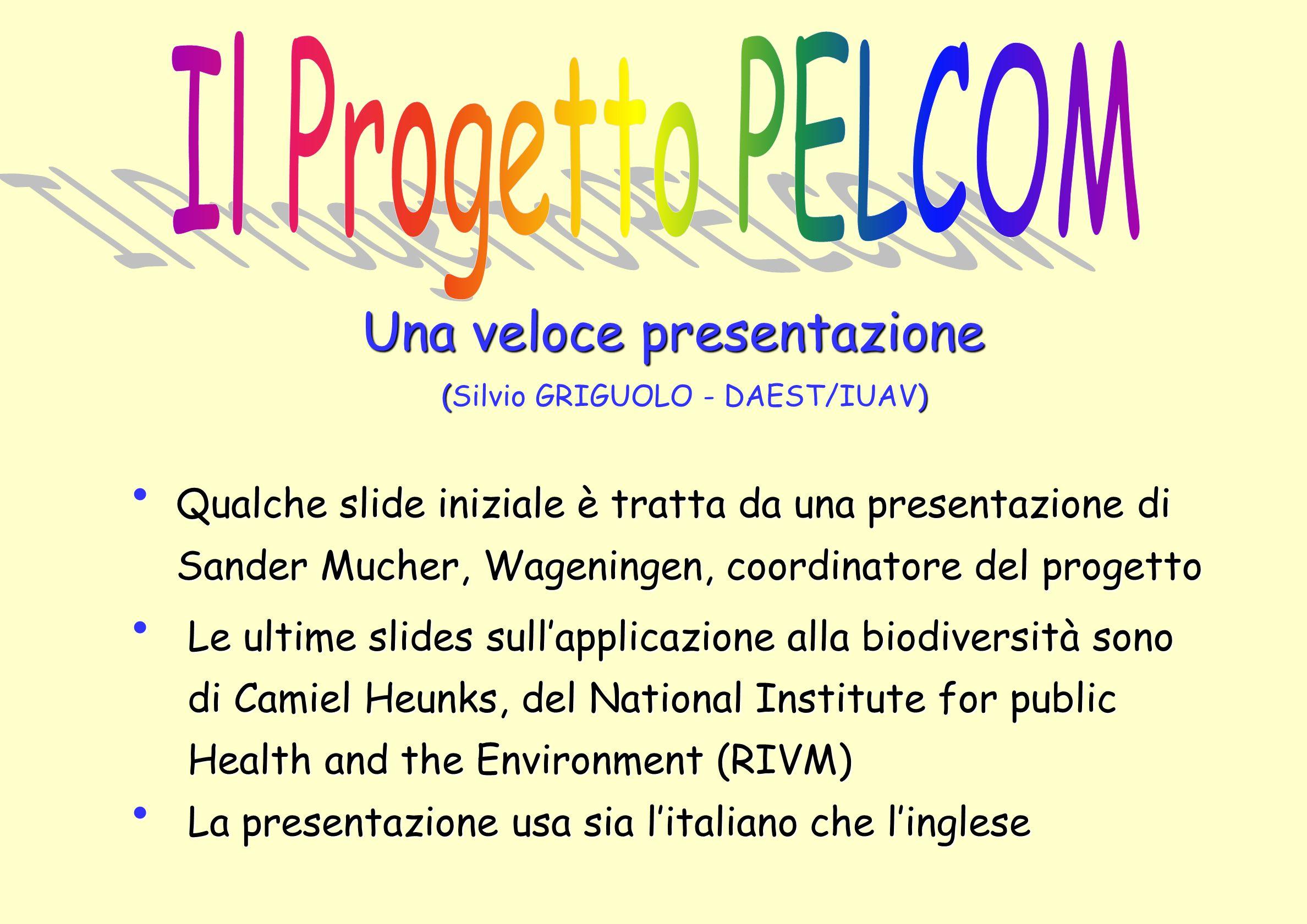 Una veloce presentazione () (Silvio GRIGUOLO - DAEST/IUAV) Qualche slide iniziale è tratta da una presentazione di Qualche slide iniziale è tratta da