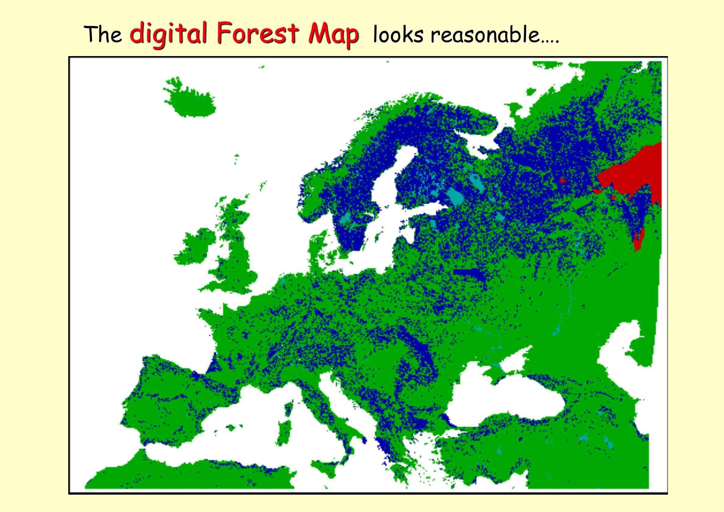 The digital Forest Map looks reasonable…. The digital Forest Map looks reasonable….