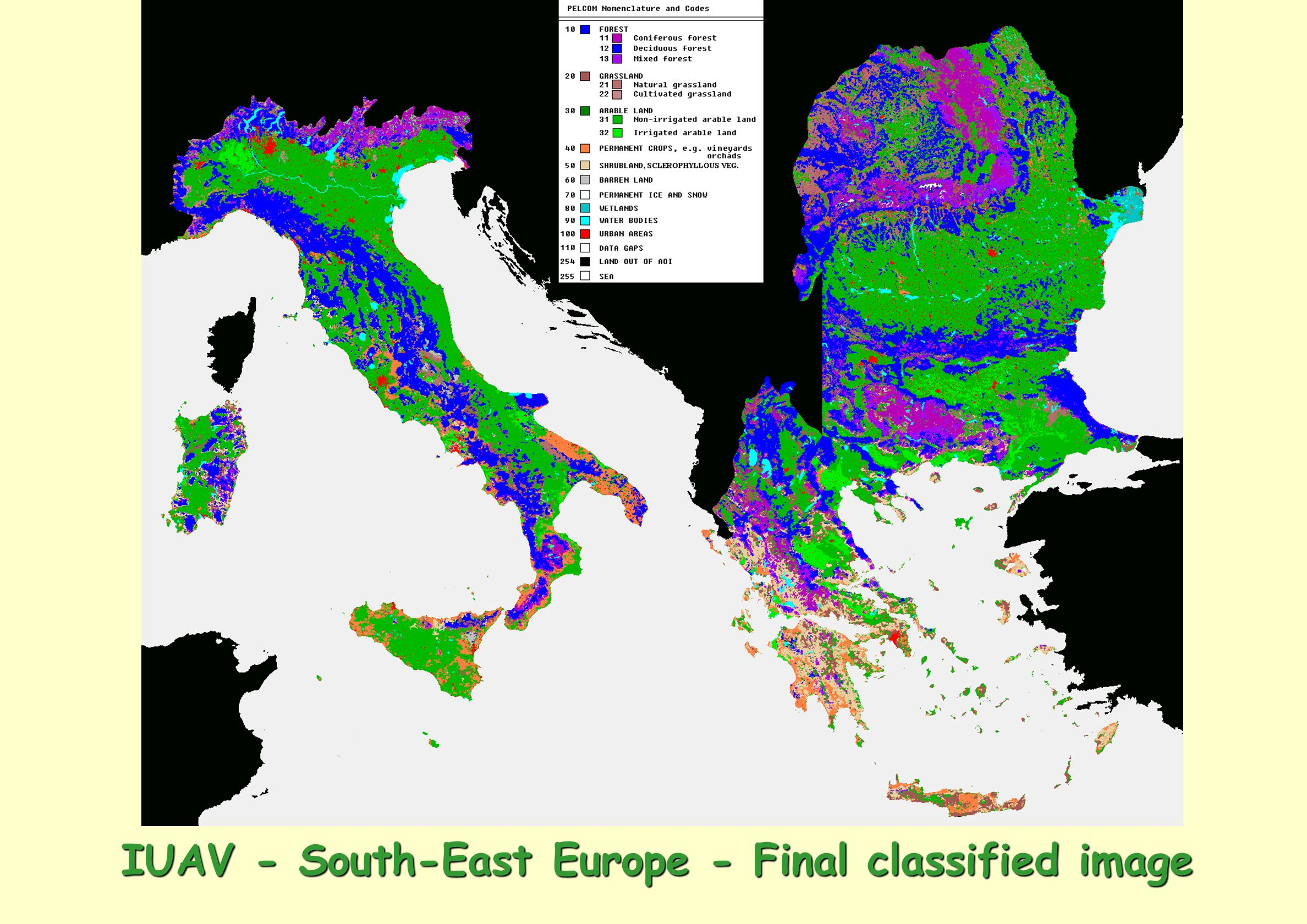 IUAV - South-East Europe - Final classified image