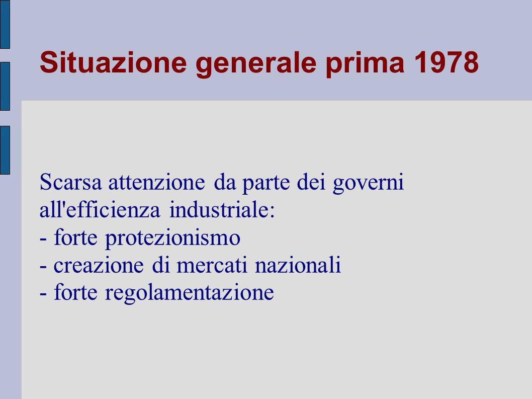 Italia Caratteristiche del mercato domestico: - posizionamento geografico - domanda fortemente dispersa sul territorio - sistema nazionale infrastrutture inadeguato - lacune nel quadro regolamentare