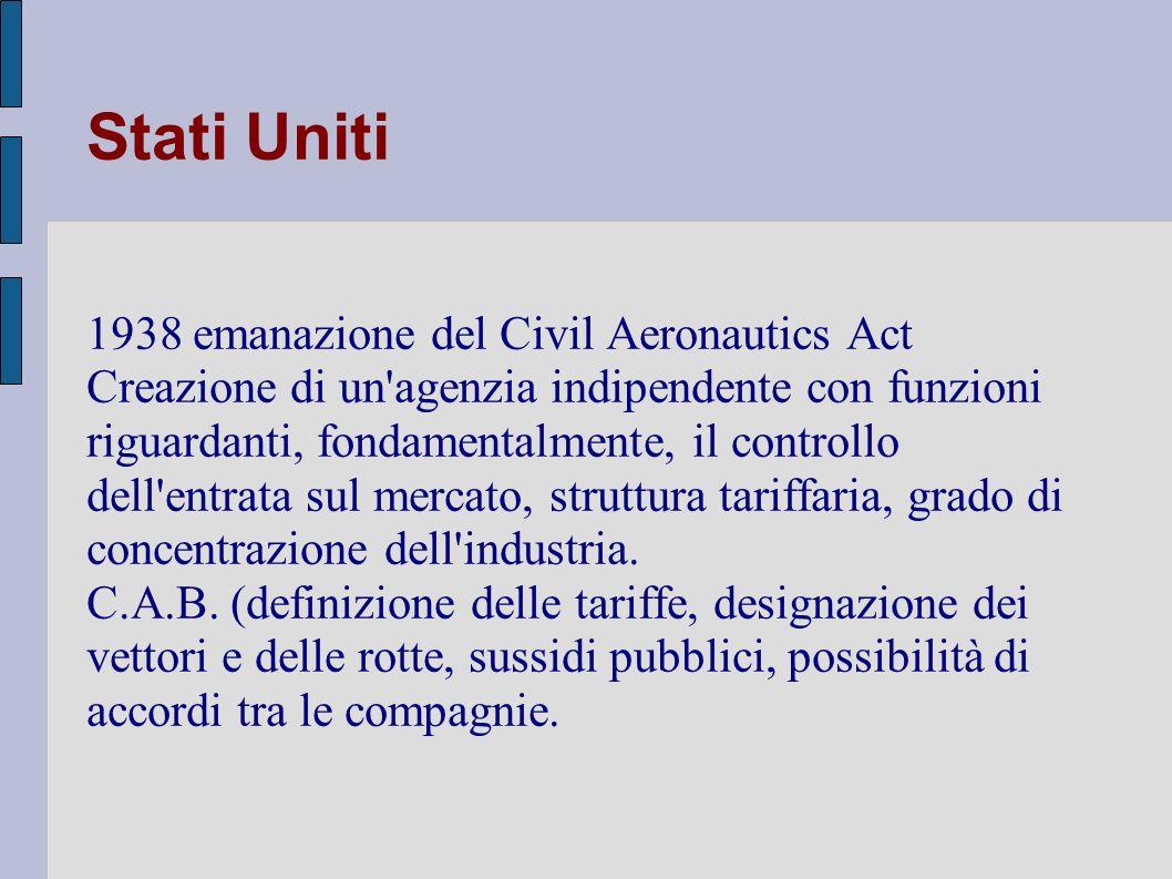 Italia Autorità garante: il mercato nazionale è caratterizzato dalla posizione di rilievo detenuta da Alitalia, un livello di concentrazione elevato, presenza di un n.