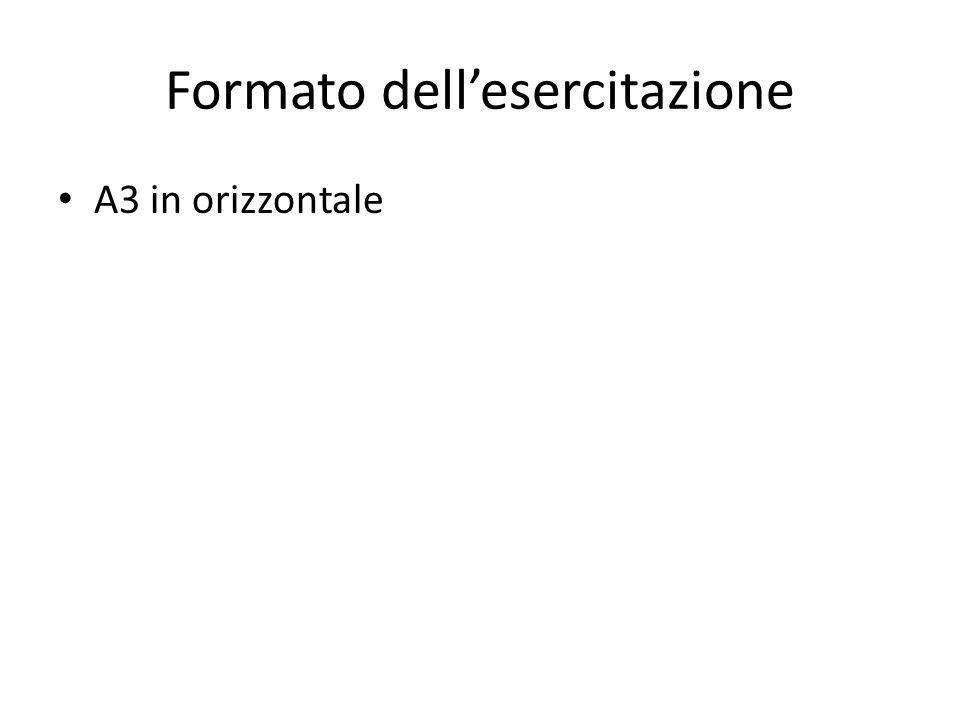 Formato dellesercitazione A3 in orizzontale