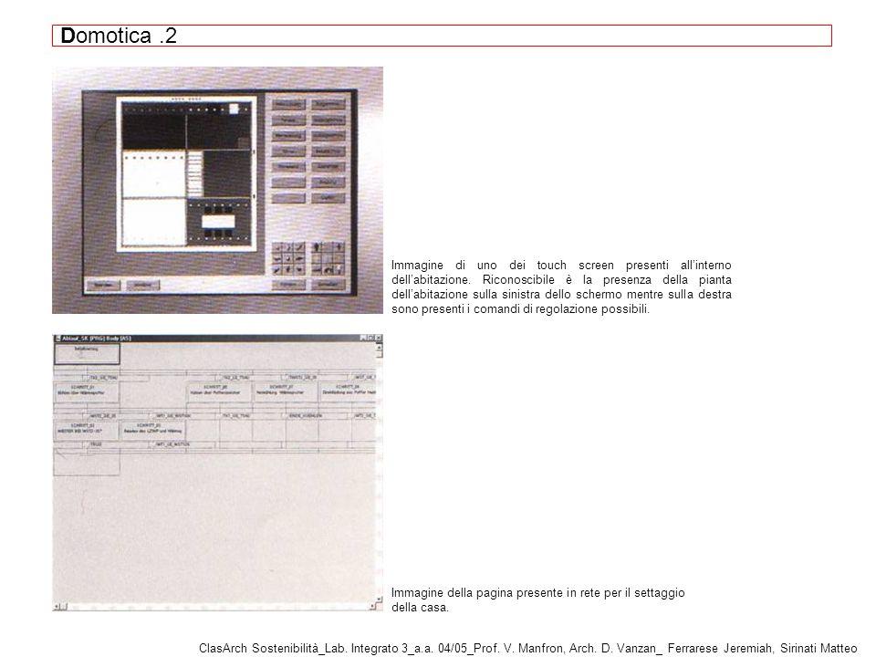 Domotica.2 ClasArch Sostenibilità_Lab.Integrato 3_a.a.