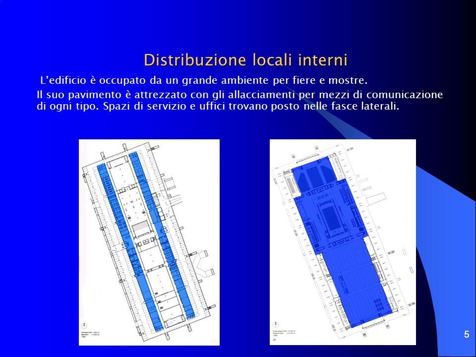 6 Organismo architettonico Fondazioni Ledificio principale è costituito da un padiglione lungo 208 metri e largo 80 metri.