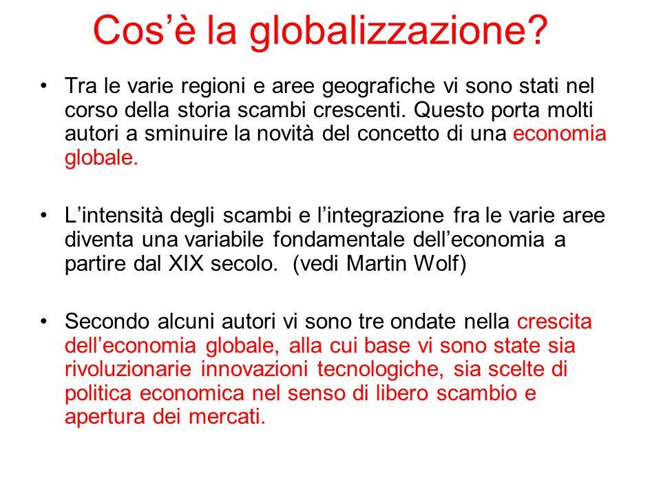 Cosè la globalizzazione? Tra le varie regioni e aree geografiche vi sono stati nel corso della storia scambi crescenti. Questo porta molti autori a sm