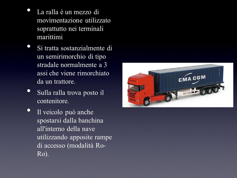 La ralla è un mezzo di movimentazione utilizzato soprattutto nei terminali marittimi Si tratta sostanzialmente di un semirimorchio di tipo stradale no