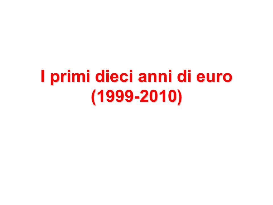 I primi dieci anni di euro (1999-2010)