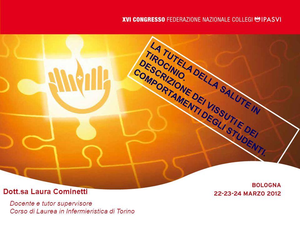 Dimonte V.Presidente del corso di laurea in Infermieristica-Torino Cirio L.