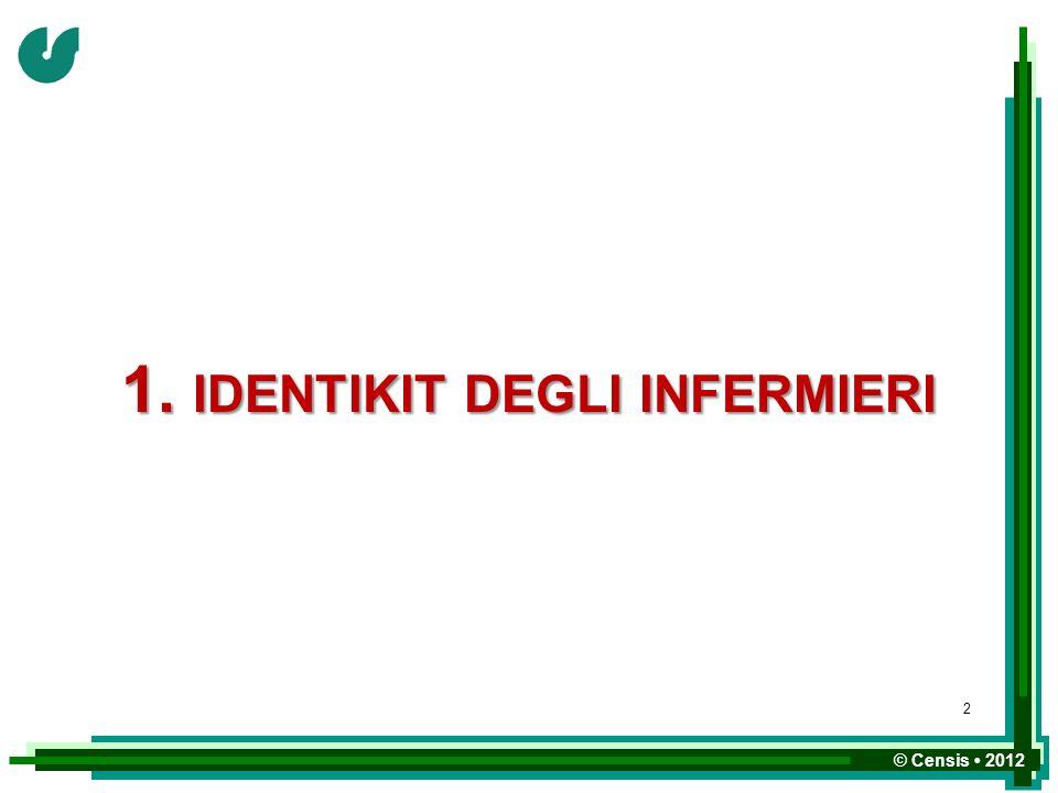 © Censis 2012 1. IDENTIKIT DEGLI INFERMIERI 2