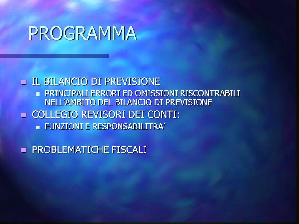 BILANCIO DI PREVISIONE Bilancio di cassa Bilancio di competenza Strumento di pianificazione Pareggio di bilancio .