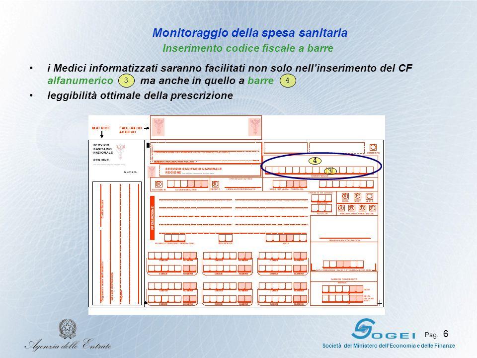 Società del Ministero dellEconomia e delle Finanze Pag. 6 i Medici informatizzati saranno facilitati non solo nellinserimento del CF alfanumerico ma a