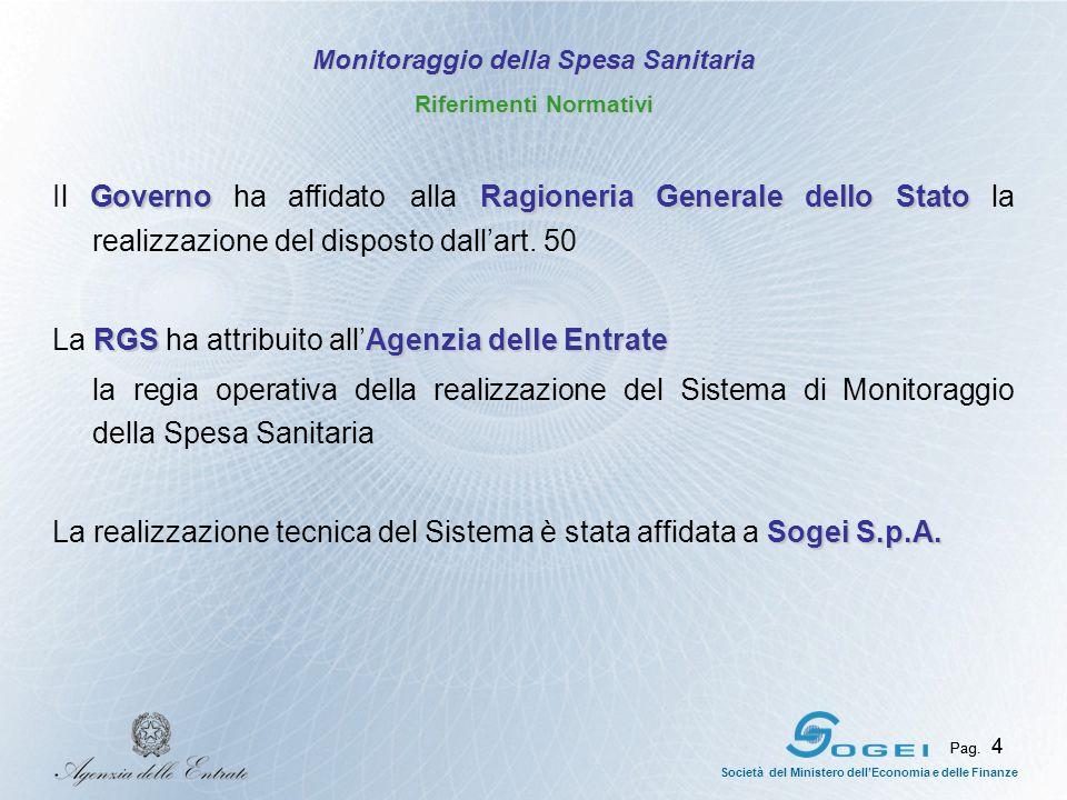 Pag.4 Società del Ministero dellEconomia e delle Finanze Pag.