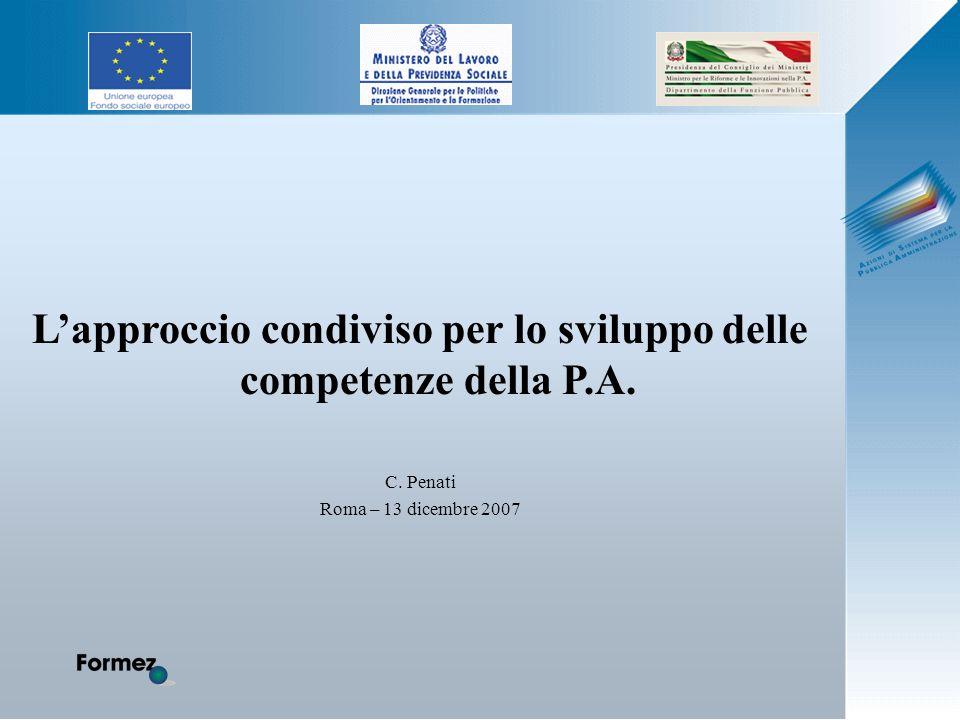 Lapproccio condiviso per lo sviluppo delle competenze della P.A. C. Penati Roma – 13 dicembre 2007