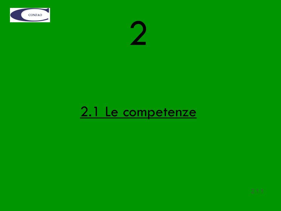 2 2.1 Le competenze 2.1.1