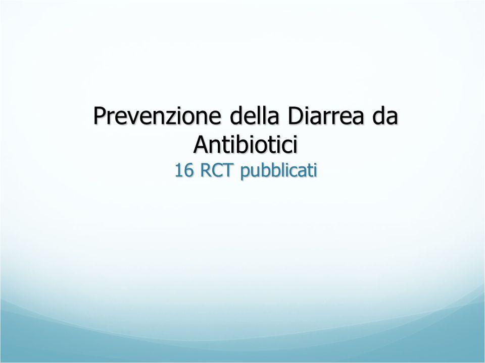 Prevenzione della Diarrea da Antibiotici 16 RCT pubblicati