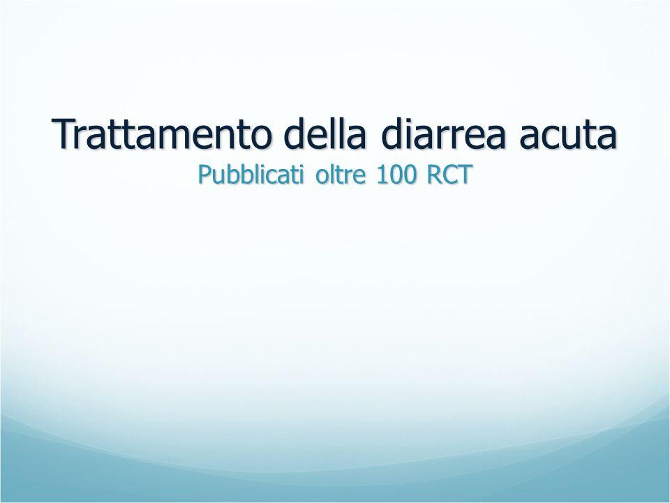 Trattamento della diarrea acuta Pubblicati oltre 100 RCT