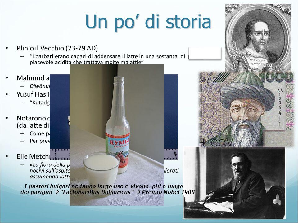 Un po di storia - I pastori bulgari ne fanno largo uso e vivono piú a lungo dei parigini Lactobacillus Bulgaricus Premio Nobel 1908