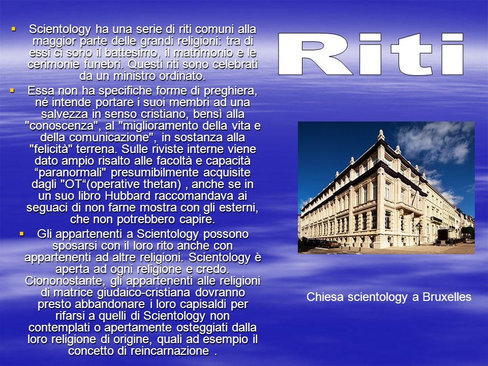 Scientology ha una serie di riti comuni alla maggior parte delle grandi religioni: tra di essi ci sono il battesimo, il matrimonio e le cerimonie fune
