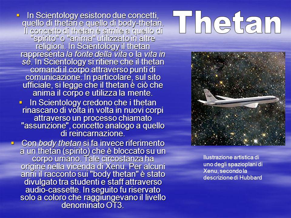 In Scientology esistono due concetti, quello di thetan e quello di body-thetan. Il concetto di thetan è simile a quello di
