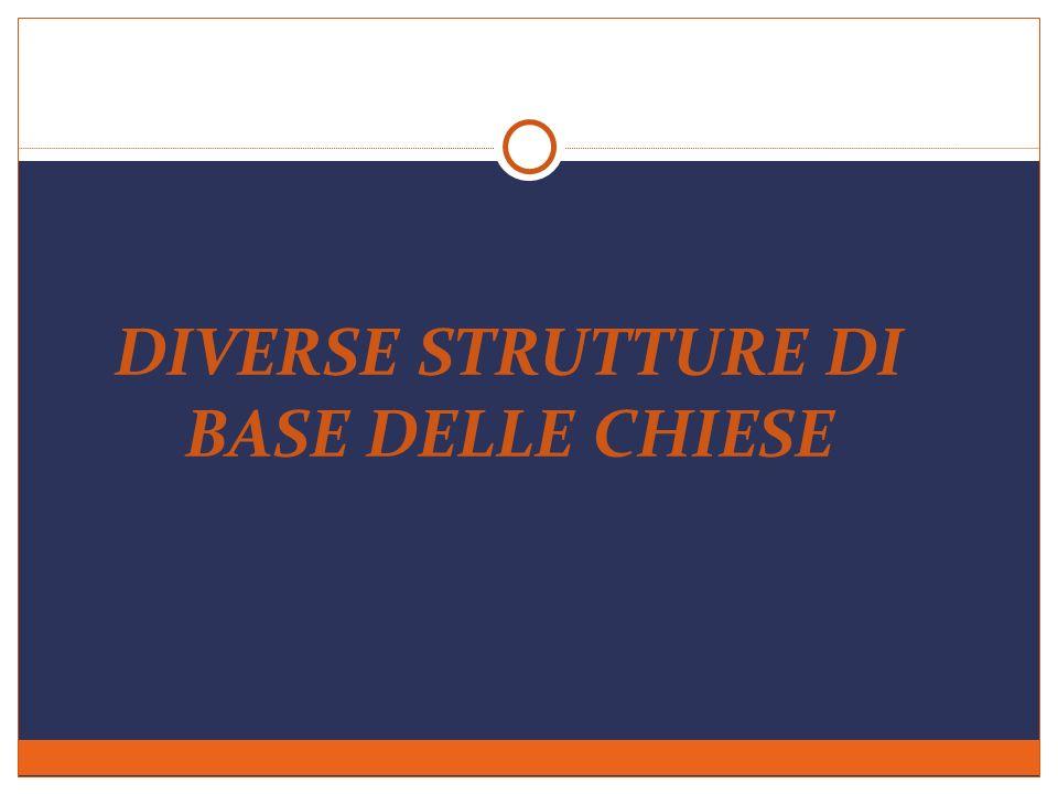 DIVERSE STRUTTURE DI BASE DELLE CHIESE
