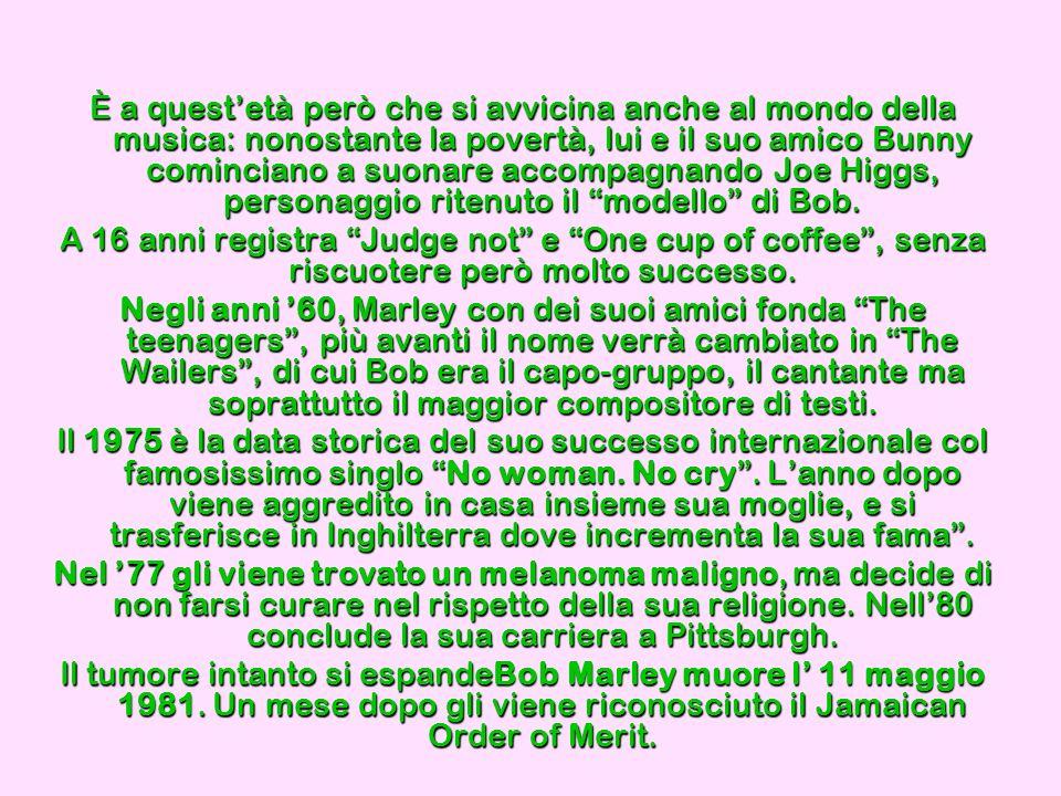 PETER TOSH Dopo la scomparsa di Bob Marley, Peter Tosh è colui che ha esportato la musica giamaicana.