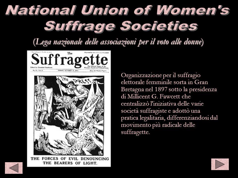 (Lega nazionale delle associazioni per il voto alle donne) Organizzazione per il suffragio elettorale femminile sorta in Gran Bretagna nel 1897 sotto