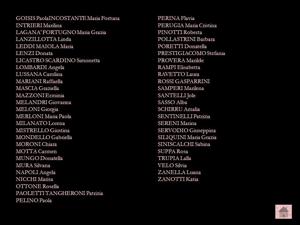 camera2 GOISIS PaolaINCOSTANTE Maria Fortuna INTRIERI Marilina LAGANA' FORTUGNO Maria Grazia LANZILLOTTA Linda LEDDI MAIOLA Maria LENZI Donata LICASTR