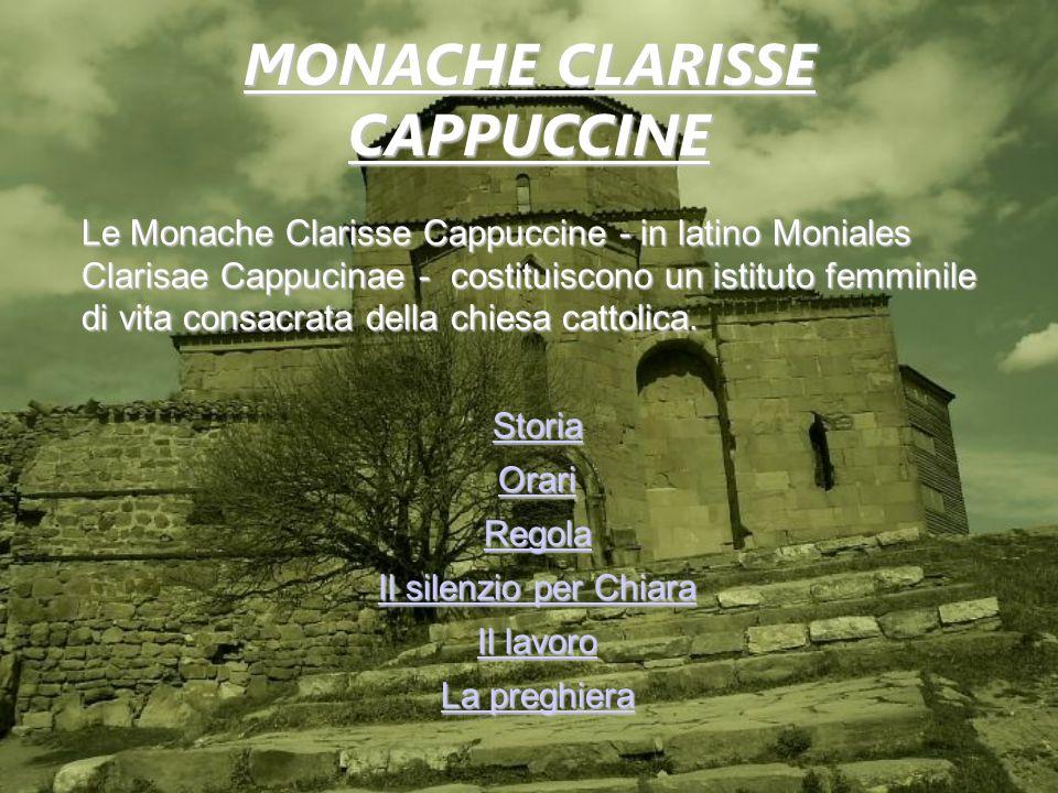 Le Monache Clarisse Cappuccine - in latino Moniales Clarisae Cappucinae - costituiscono un istituto femminile di vita consacrata della chiesa cattolic