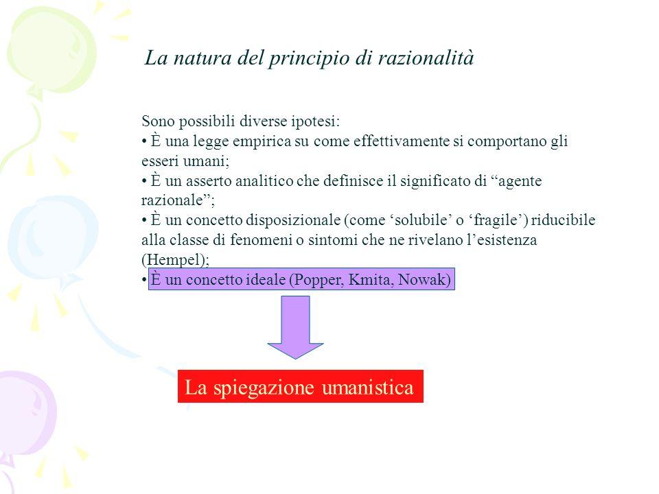 La correzione di Hempel dello schema di Dray [1] «X si trova in una situazione di tipo z» [2] «X è disposto ad agire razionalmente» [3] «In una situaz