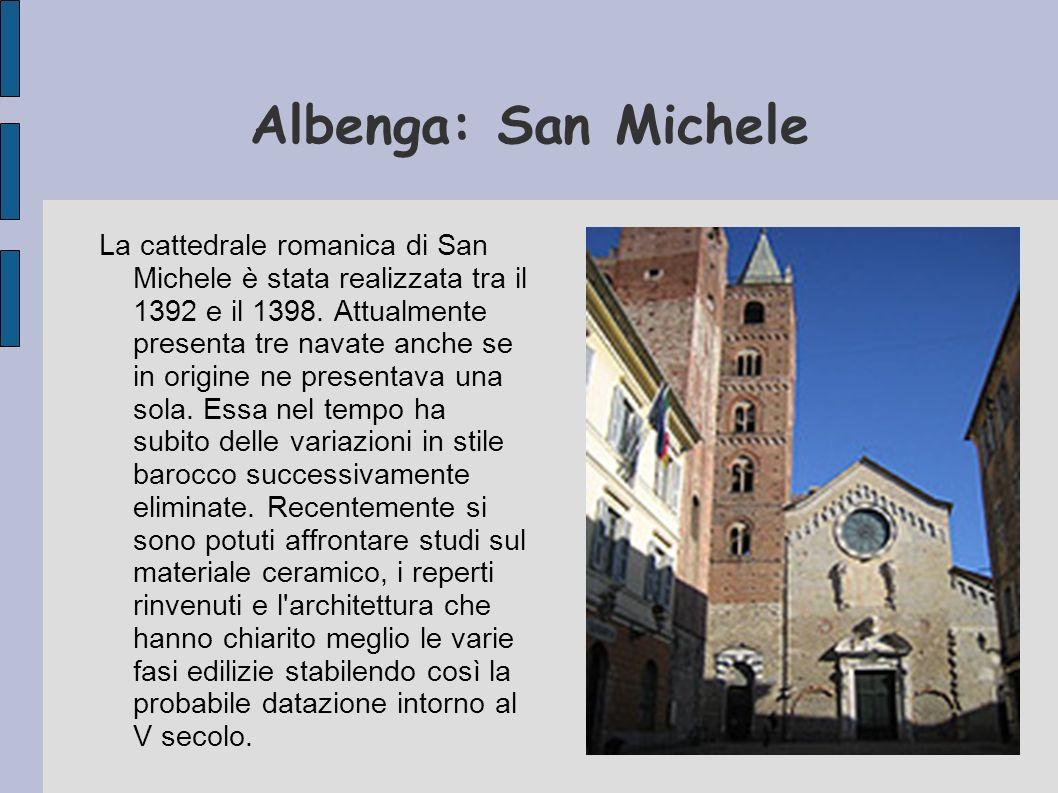 Battistero Il battistero di Albenga fu realizzato nel V secolo nell ambito della grande opera di ricostruzione della città operata da Costanzo.