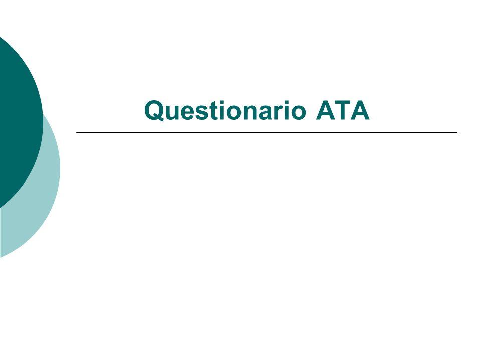 Questionario ATA