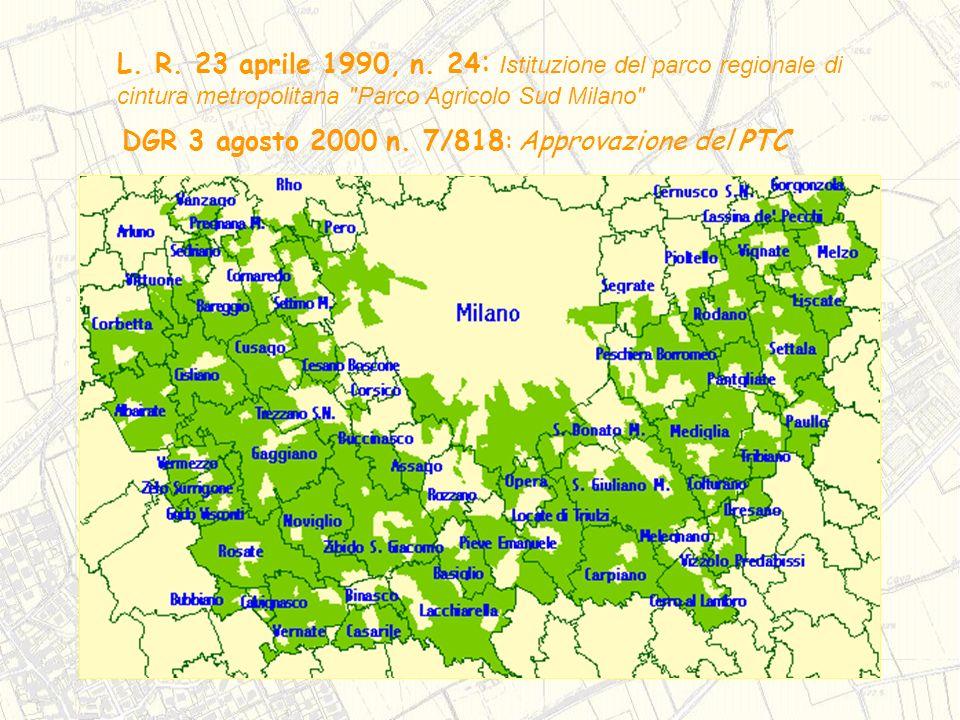 L. R. 23 aprile 1990, n. 24 : Istituzione del parco regionale di cintura metropolitana