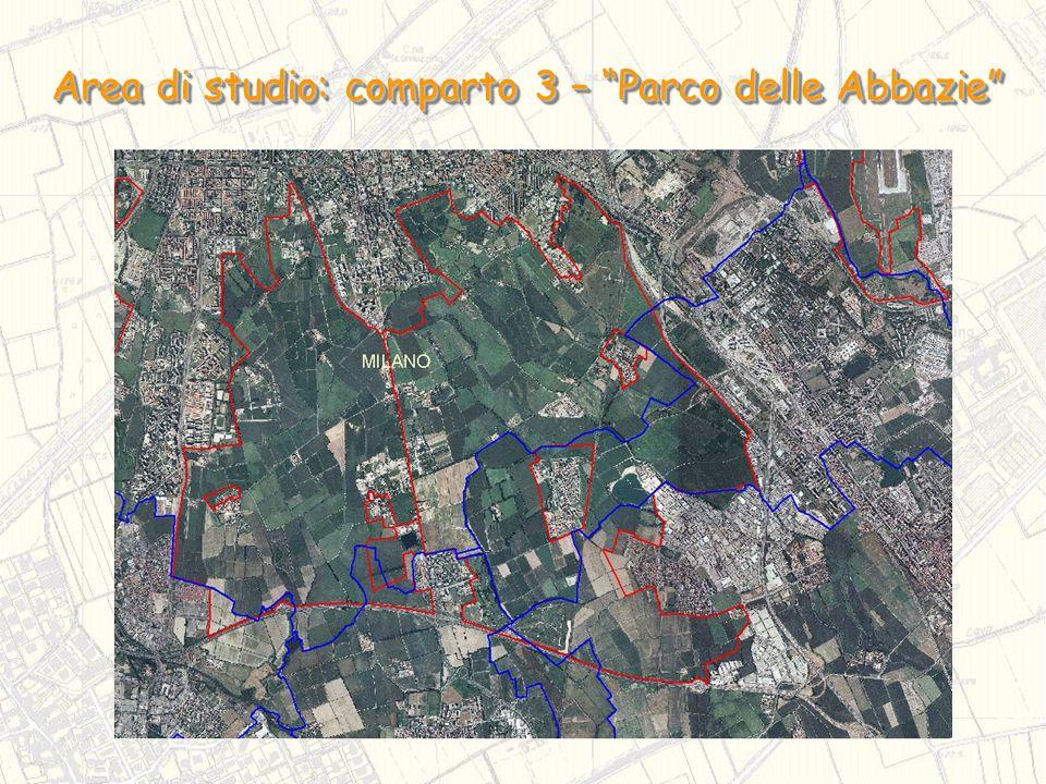 Area di studio: comparto 3 – Parco delle Abbazie
